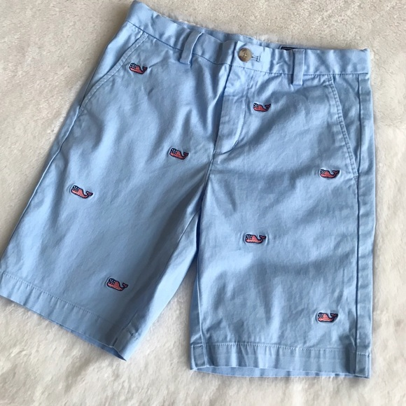 VINEYARD VINES Boys Whale Embroidered Club Short Firecracker Red NWT 7 12 14 16
